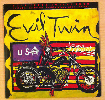 "LOVE/HATE "" Evil Twin "" - Vinyl Ep 12"" + Poster - Columbia ‎ 657596 5  - 1991 UK"