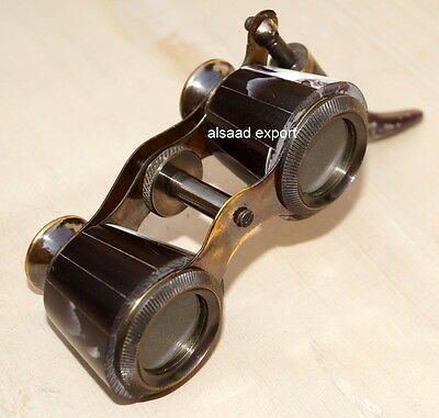 Brass Focuss Lens With Nautical Spyglass Antique Vintage Old Binocular Handle
