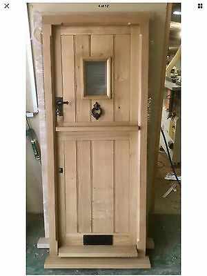 Solid Oak Stable Door And Frame