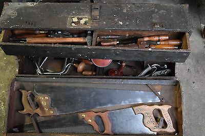 Vintage Collection Of Stanley Disston And Others Woodworking Old Tools