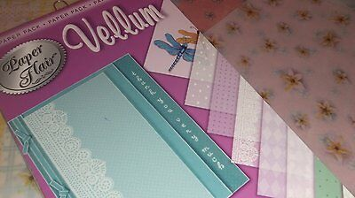50 A4 SHEETS  PATTERNED&COLOURED Vellum