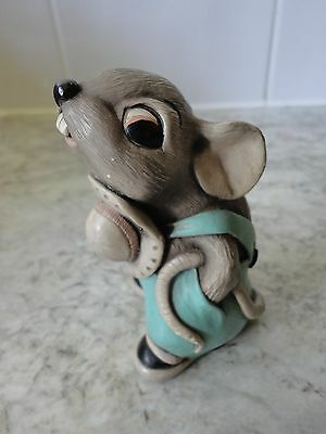 "Small Rare Collectable Pendelfin Grey "" Father Mouse "" Figurine / Ornament"