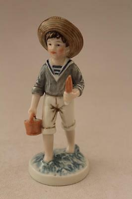 Royal Osborne Figurine Childhood Memories Hand painted Seaside Boy