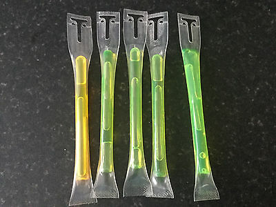 Glow Snap Sticks 165mm - 5 Pack - Camping - Outdoors - Night Fishing party rave