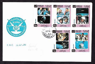 Space Cover Fdc Sharjah 1970.year