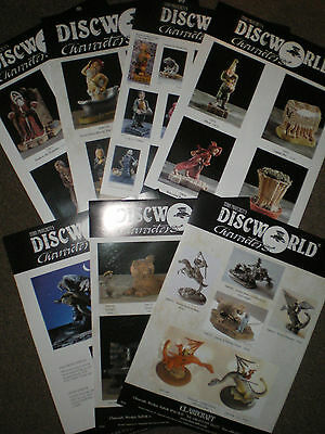 Terry Pratchett Discworld Clarecraft 4 different  catalogue colour pages