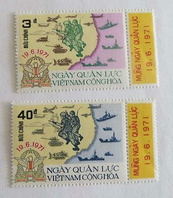 South Vietnam 1971 Armed Forces Day set unused