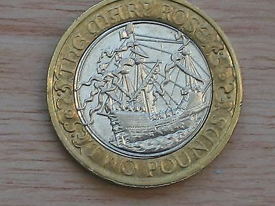 2011 £2 BU Coin – The Mary Rose – Royal Mint Two Pounds circ circulated Rare
