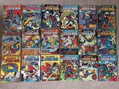 Bundle Job Lot Of 18 Super Spider-Man Vintage Comics - MARVEL UK 1977 & 1978