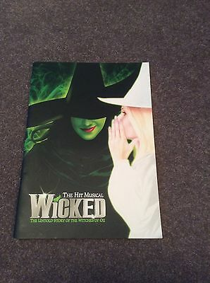 Wicked the Musical Programme. Louise Dearman and more. London cast 2010