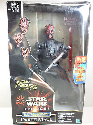 "Star Wars Hasbro 12"" Electronic Darth Maul Figur mit Sound 1999 Episode 1 OVP"