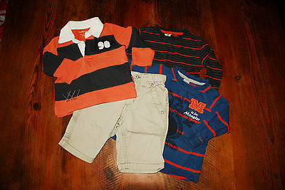Baby Boys clothes size 1 Pumpkin Patch Rugby Top Pants Target Tops
