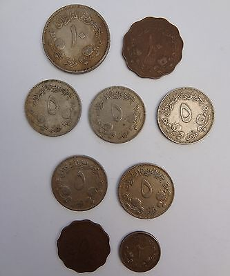 9x ASSORTED COINS FROM SUDAN, ALL DATED 1956