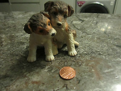 Miniature Hand Painted Royal Osborne Puppies - 8cm