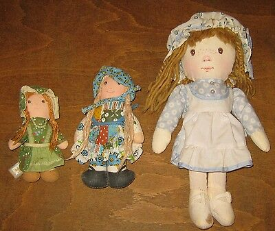 Collection Of 3 Original 1970's Holly Hobbie Dolls