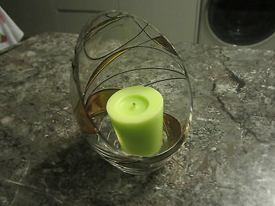 Lovely Patterned Open Glass Candle Holder
