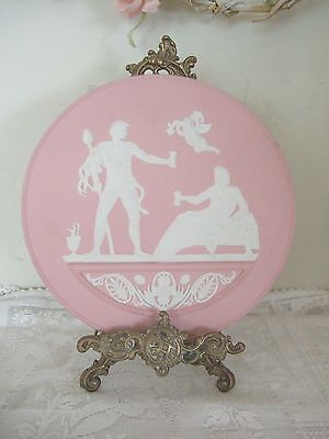 "Wedgwood Pink Jasperware 7.5"" Year Plaque Classical Medallion 2008 Rare"