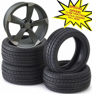 """18""""rotor mat gmp alloy wheels audi/vw/passat/skoda/sharan/seat/a4/a6/ with tyres"""