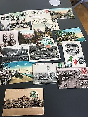 All World Small Nice Unpicked Lot Of Vintage Postcards All Sent To Sweden