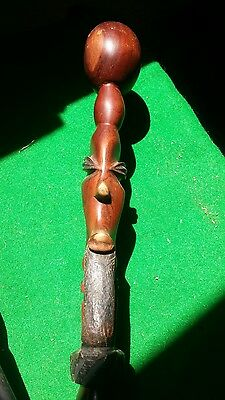 African Wooden Carved Walking Stick