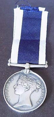 Qn Victoria 1874 Royal Naval Long Service & Good Conduct Named Medal H.M.S.Flora