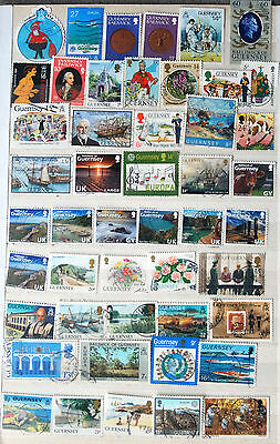 A Good Collection of Different Used Guernsey Stamps.
