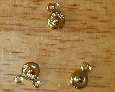 50 - Gold Snap Clasps-11mm+FREE-50 matching earring hooks               (2D2)