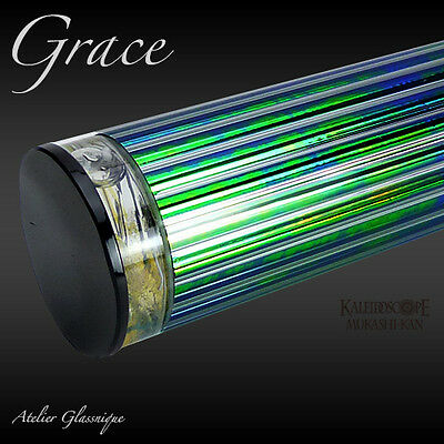 Kaleidoscope Glass -Grace- Oil 3mirror 12point 7.4' Glass Nique Japan New