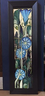 Moorcroft Convulvulous Large Trail Plaque (Entwined) by Emma Bossons. 25 in/64cm