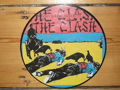 The Clash Give 'em Enough Rope Dispay 'picture Disc'