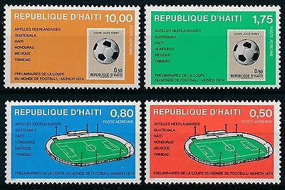 [K36009] Haiti 1973 Soccer - Airmail Good set of stamps very fine MNH