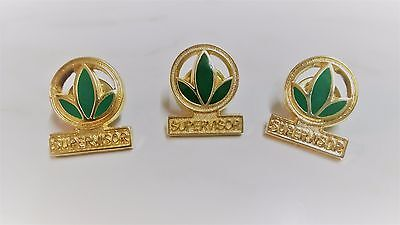 Badge Pins Herbal Life Supervisor Gold Leaf Badge Brooch Button MLM Collectible