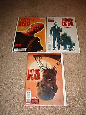 Marvel Comics George A. Romero Empire Of The Dead Lot #1 #2 #3 Mint