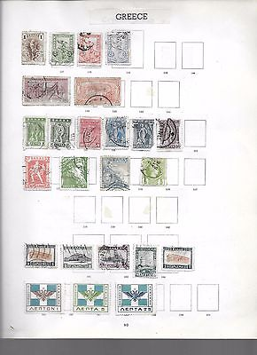 Greece collection on 4 pages, from old album