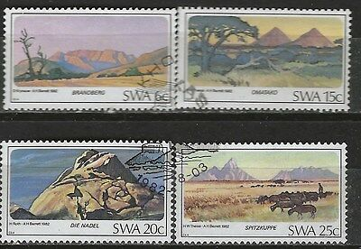 SOUTH WEST AFRICA 1982 Sc#495-8 MOUNTAIN PEAKS COMPLETE USED SET 1247