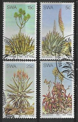 SOUTH WEST AFRICA 1981 Sc#475-8 ALOES COMPLETE USED SET 1680