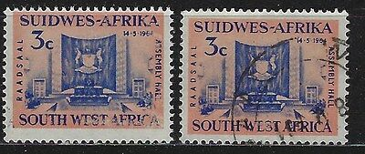 SOUTH WEST AFRICA 1964 Sc#297 LEGISLATIVE ASSEMBLY COMPLETE MNH & USED SET 1600