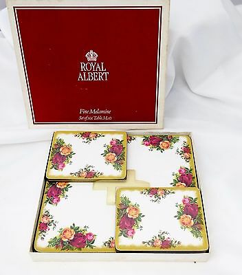Royal Albert Old Country Roses Set of Four Table Placemats and Four Coasters