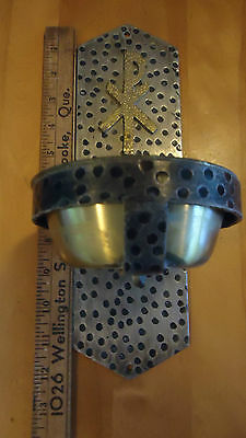 Vintage Church Holy Water FONT  holder metal & brass