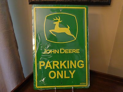 "John Deere Parking Only Metal Sign 18"" x 12"" New"
