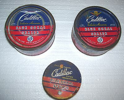 3 Cadillac Blue Coral 2 cans 1 Jar- all for 1 Bid-