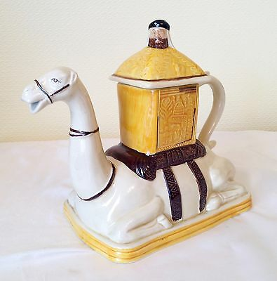 Vintage Tony Wood Collectable Porcelain  Teapot Camel With Rider