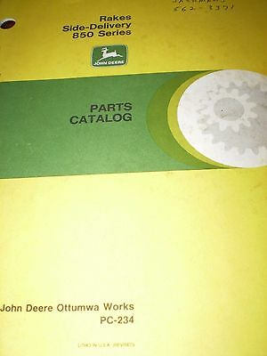 John Deere 851-858-858A Side-Delivery Rakes Parts Catalog 1965, Dealer Reprint