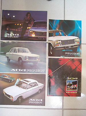 PEUGEOT 304 - 1971 - 1972 - 1973 - 1974 - 1975 / catalogue brochure prospectus