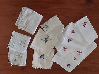 Assorted Vintage Napkins 13 Pieces