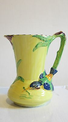 "Burleigh Burgess & Leigh 1930's Kingfisher Art Deco Yellow, Blue Green 7.5"" JUG"