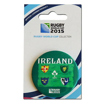 Rugby World Cup 2015 Ireland Button Badge