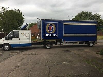 Two Mini-Artic Mobile Bar Trailers and One Cab for sale
