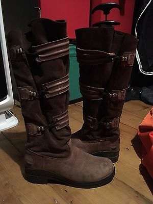 Ariat Trent - UK Size 6 regular (long riding yard country boots brown steampunk)