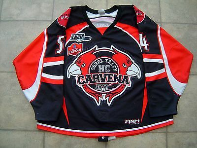 Lnah Sorel-Tracy Hc Carvena Game Worn Used Jersey # 54 Alexandre Vachon